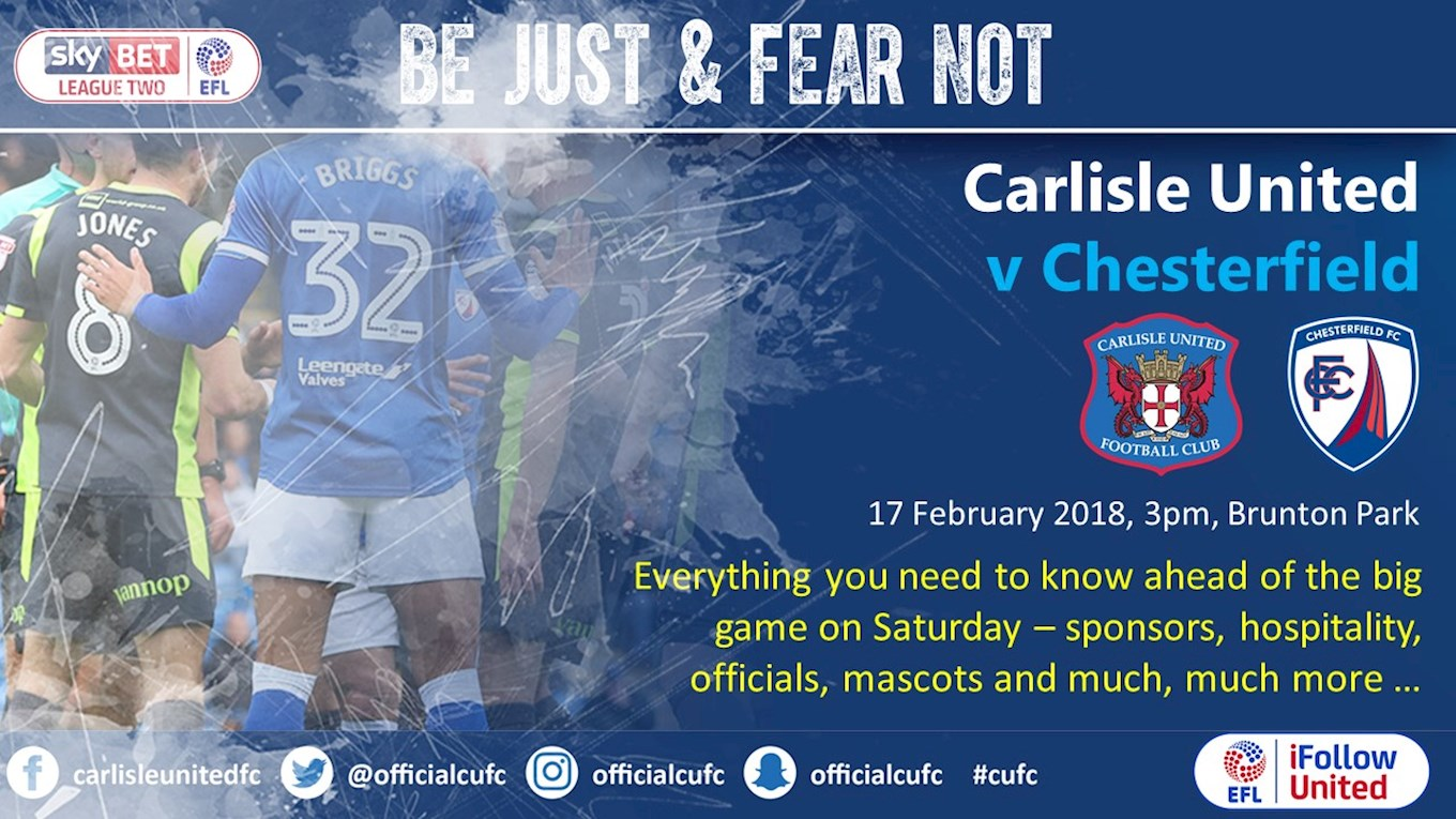 BIG MATCH PREVIEW: Chesterfield - News - Carlisle United