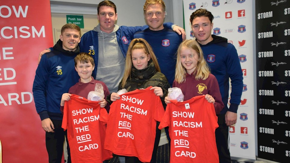 749fb9cfd55 SHOW RACISM THE RED CARD  Fantastic event held at Brunton Park